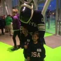 Proud Mama moment at the Seattle Thunderbirds Game
