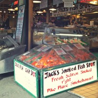 Grilled Salmon Special at Jack's Fish Spot (52 weeks of eating in Pike Place Market, Seattle)