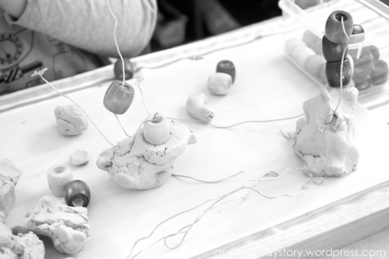 reggio clay bead sculptures Using Clay: Wire and Bead Sculptures