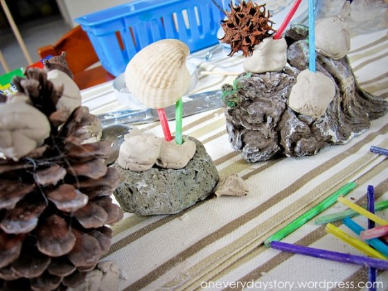 reggio clay sculptures preschoolers Reggio: Using Clay   Wire and Bead Sculptures