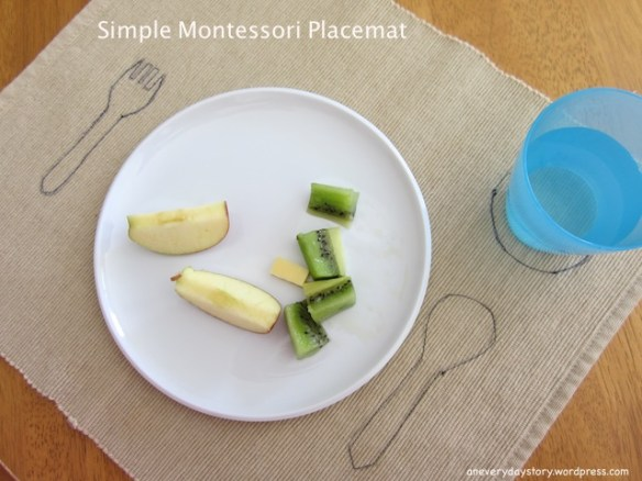 how to make a simple montessori placemat Simple DIY Montessori Placemat