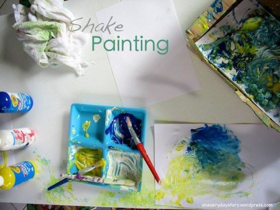 marble painting activity shake painting open ended art for preschoolers art for boys 4 Shake Painting