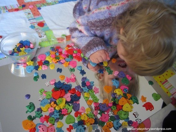 reggio activities for toddlers using mirrors and buttons 2 Mirrors & Buttons: A Reggio inspired Activity for Sarah
