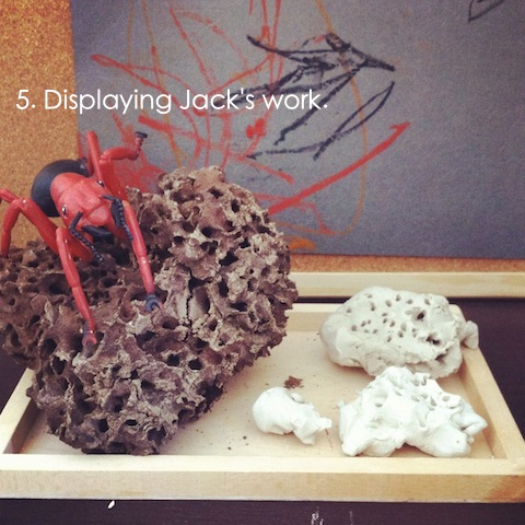 reggio emilia activities displaying work an everyday story This Week… 4/52