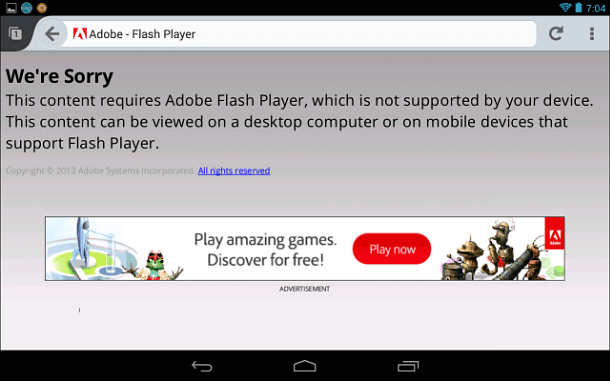 Flash not Supported