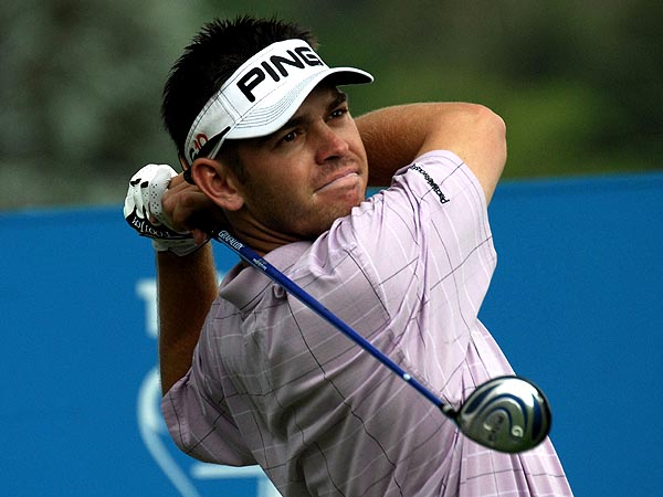 Johannesburg, South Africa, Louis Oosthuizen tees off the 14th during the fourth round of the Telkom PGA Championship held atThe Country Club, Johannesburg, Woodmead on the 24 February 2008.  The tournament is held as part of the 2008 Sunshine Tour  photo by: Bob Stapleton/Sportzpics.net