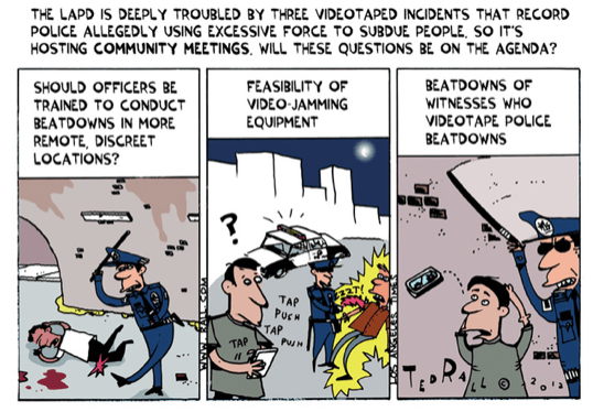 LA Times fires award-winning cartoonist Ted Rall after LAPD accuses him of lying