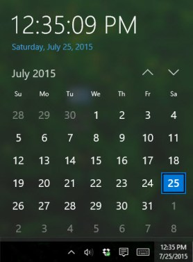 new features in windows 10 calendar