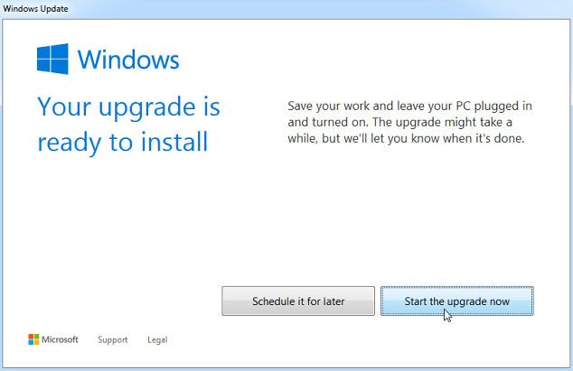 how to upgrade windows 7 to windows 10 first window ready to upgrade