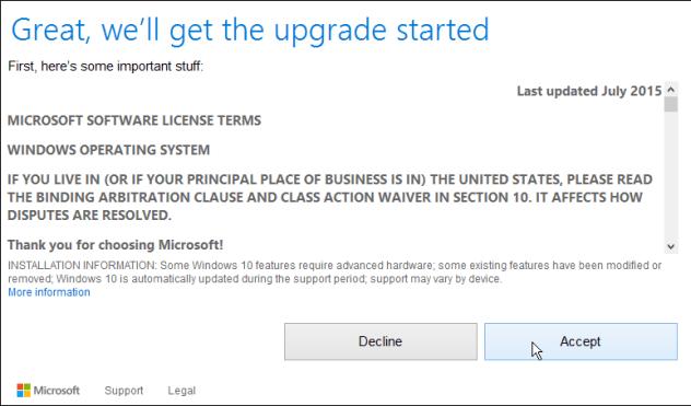 how to upgrade windows 8.1 to windows 10 license