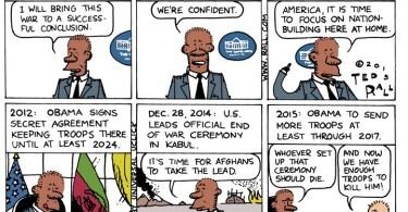 ted rall cartoon afghanistan