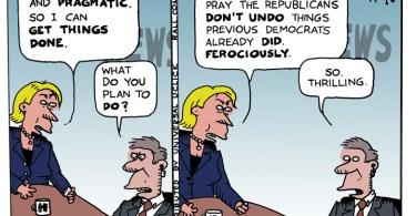 ted rall hillary clinton cartoon