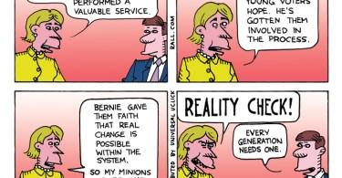 Hillary Clinton burn the bern