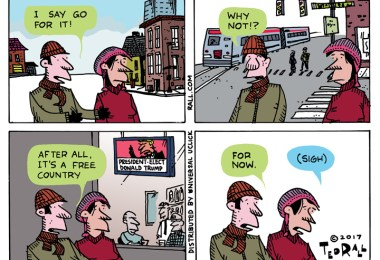 Americans face the future with a gimlet eye. ted rall 2017