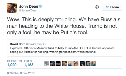 john dean trump russia donald trump traitor russian hack cia