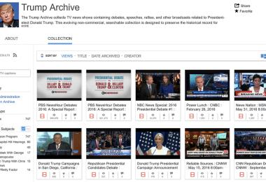 Trump Archive Internet Archive