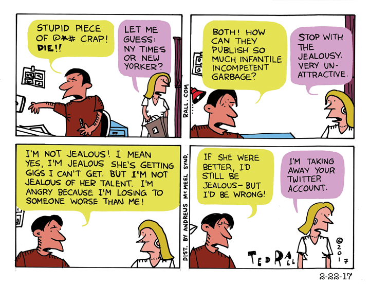 Ted Rall: Are You Really Jealous of Someone Better?