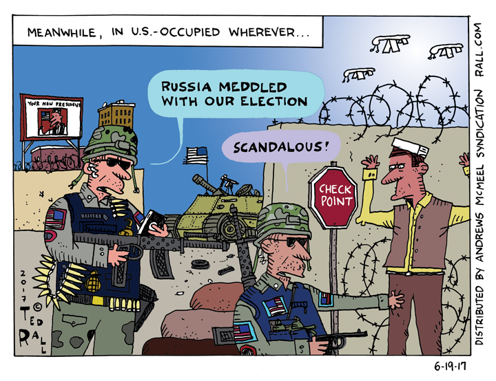 Ted Rall on Russia: I'm Shocked, Shocked! [cartoon]