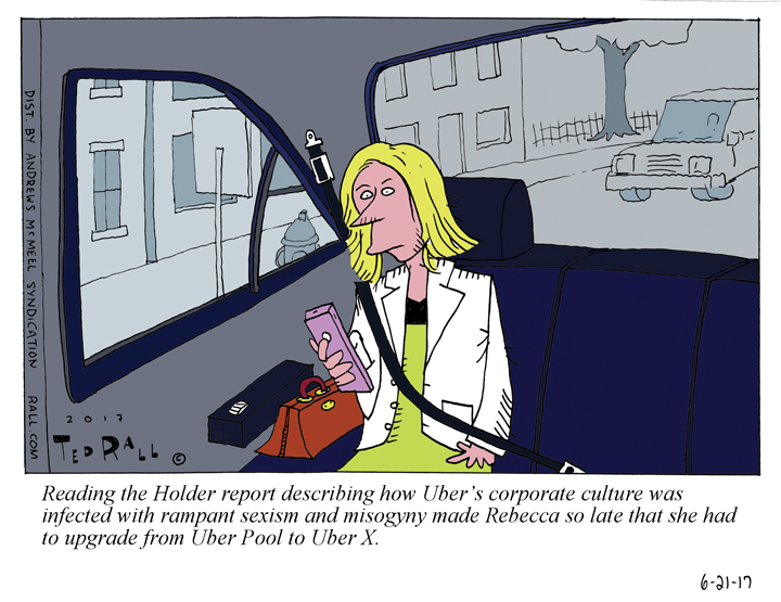Post Travis Kalanick, Uber's Got A Message for Women [cartoon]