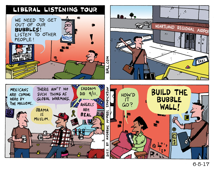 Hey, Liberals: Flyover Country Is Calling. Pick Up! [cartoon]