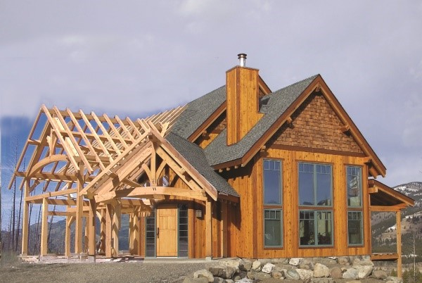 Timber Frame Home Plan Pic 1