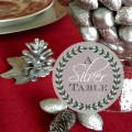 AnExtraordinaryDay.net - Tablescaping with Silver - A Silver Table - Silver pinecones and nuts