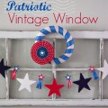 Patriotic Vintage Window & Garland :: AnExtraordinaryDay.net