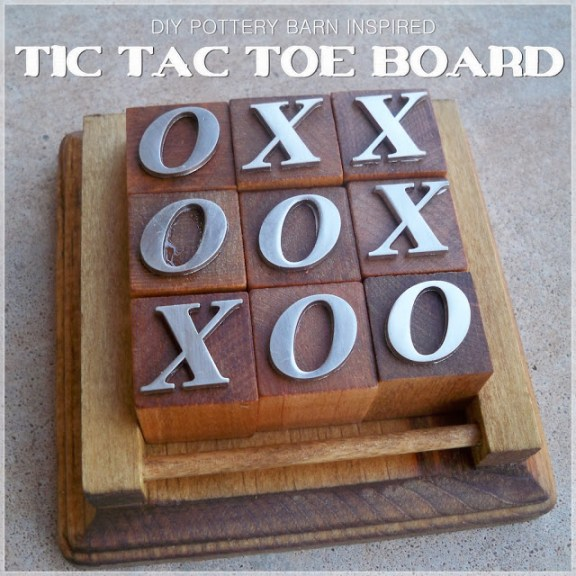 LetsDrinkCoffeeDarling.blogspot.com :: DIY Tic-Tac-Toe Board a Pottery Barn Knock-off  ~ Project Inspire{d} Feature at AnExtraordinaryDay.net