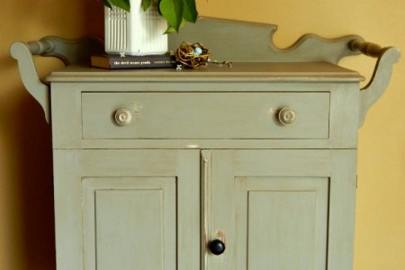 antique washstand with a folkart home decor chalk paint makeover anextraordinaryday.net