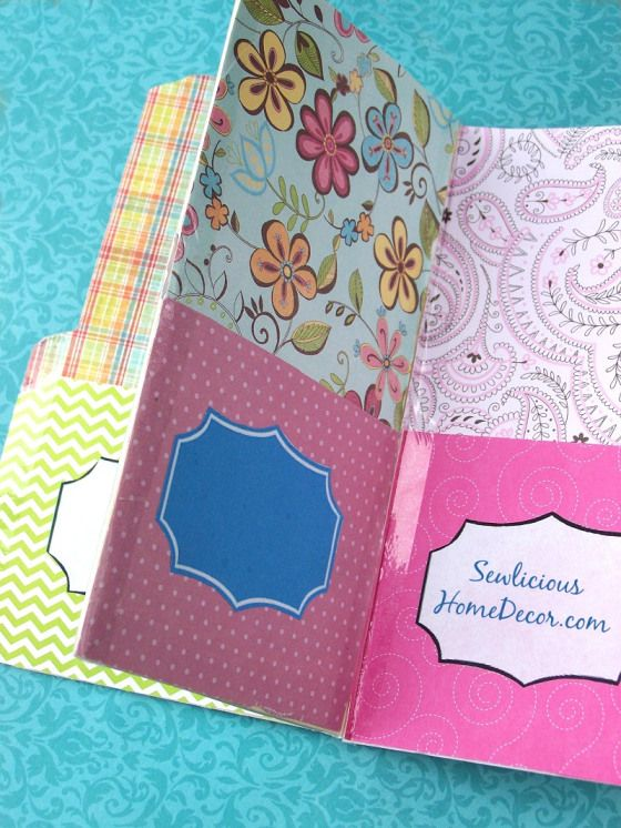 Easy Pocket Folder Organizer Tutorial & Giveaway by Sewlicious Home Decor a Project Inspired feature at AnExtraordinaryDay.net