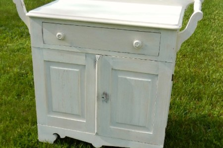first coat of paint antique washstand with a folkart home decor chalk paint makeover anextraordinaryday.net
