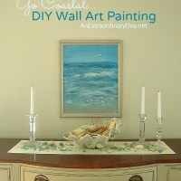 Creating a Coastal Vibe with DIY Paintings | Project Inspire{d} Link Party Week 76