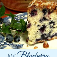It's Time to Make Blueberry Buckle Coffee Cake