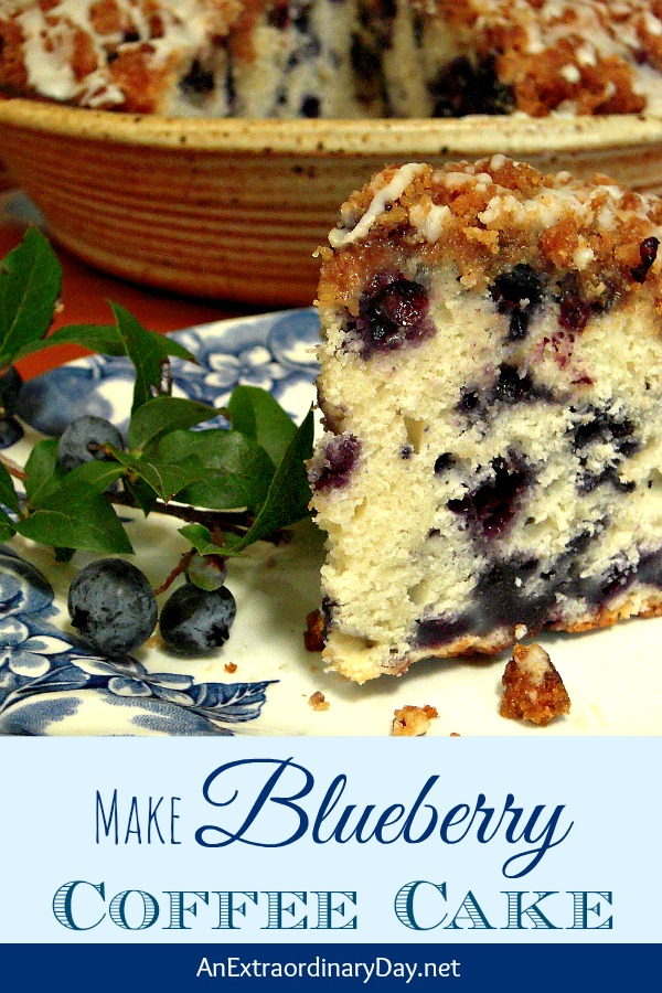 Make Blueberry Buckle Coffee Cake #BlueberryRecipe