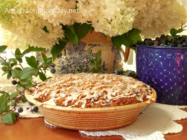 There's nothing like a bite of delicious Blueberry Buckle #CoffeeCake #Recipe