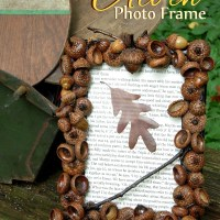 DIY Acorn Photo Frame for Fall Home Decor