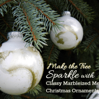 Make the Tree Sparkle with Classy Marbleized Metallic Christmas Ornaments