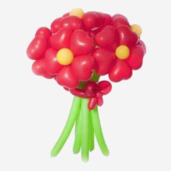 Букет из шаров в виде хризантем