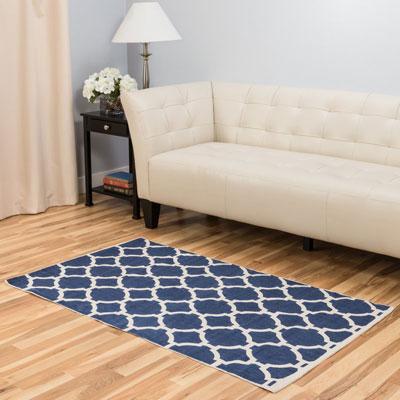 Blue Indoor/Outdoor Area Rug by Harbormill, Trellis
