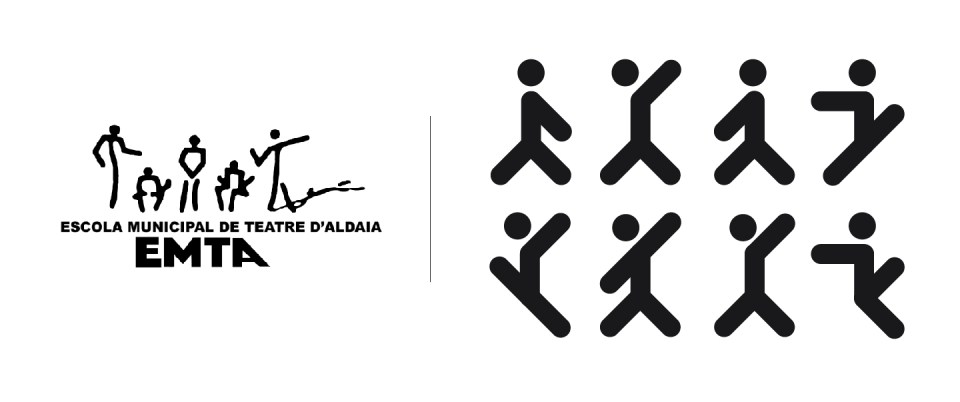 emta rediseño marca before after pictos aldaia teatro escuela restyling personajes diseño branding valencia