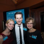 Aliyya Shelley Mattos - AIC Board of Directors, auctioneer Keith McLane and Lisa Eltinge - Development Consultant