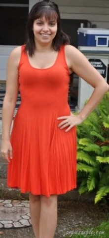 Beat the Heat Outfit - Orange Dress (14)