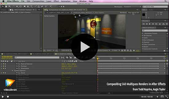 Compositing C4D Multipass Renders in After Effects