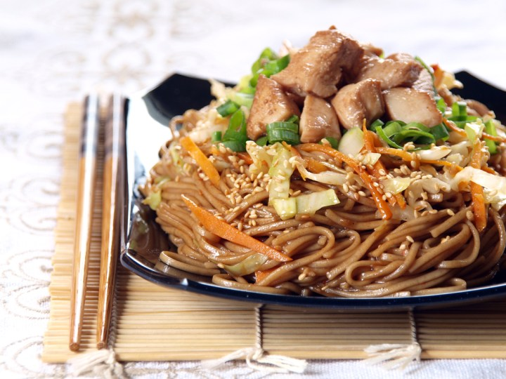 yakisoba is a stir fried noodle dish in japan similar to the mee ...