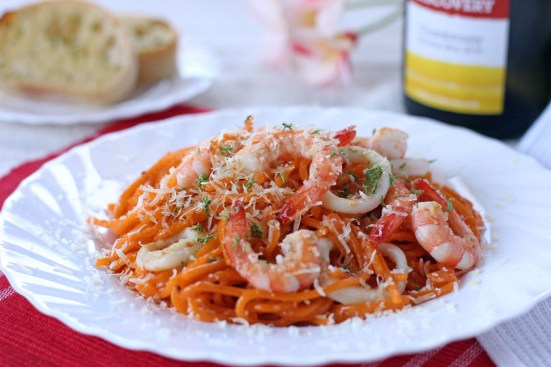 Aligue and Prawn Pasta Wide
