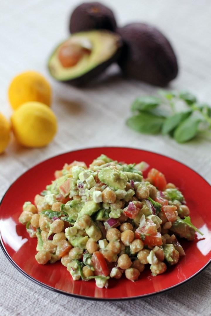 Chickpea, Feta and Avocado Salad 1