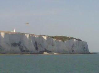 white cliffs of Dover bring cooling breeze
