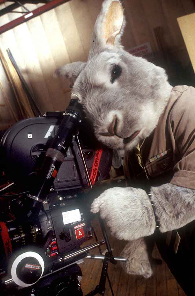 Animatronic Rabbit suit worn by actor