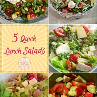 5 Quick Lunch Salads - Anna Can Do It! * 5 Quick Lunch Salads, what I've made lately, beside in addition to you can make them in no time, these salads are delicious, filling and really easy to make; you can even make them ahead!