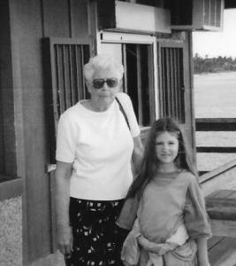 21 AnnaLeah with Grandma Karth at the pier 002